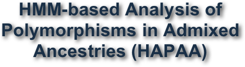 HMM-based Analysis of Polymorphisms in Admixed Ancestries (HAPAA)